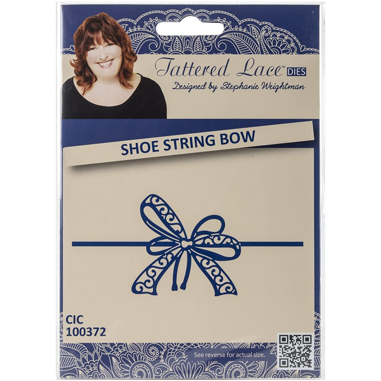 Create and Craft Shoestring Bow Tattered Lace Metal Die