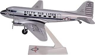 Delta Ship 41 Douglas DC-3 Airplane Miniature Model Snap Fit 1:100 Part # ADC-00300C-005