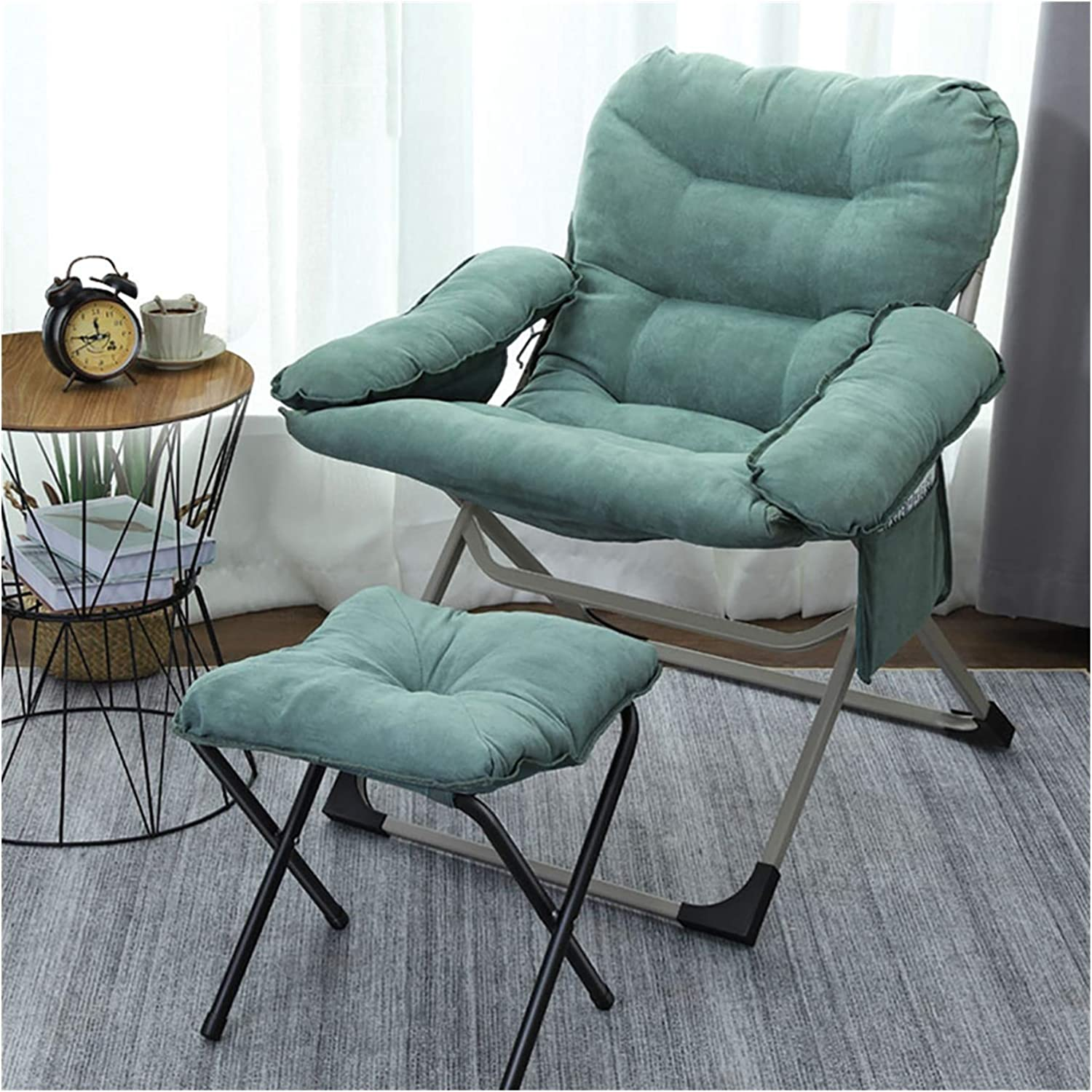 ZWJLIZI Folding Chair Home Leisure Balcony Lazy Sofa Inventory cleanup A surprise price is realized selling sale Brea Lunch