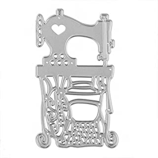 Cutting Dies,Hstore Sewing Machine, Small Wooden Horse, Lover Paper Card Making Metal Die Cut Stencil Template for DIY Scrapbook Photo Album Embossing Craft Decoration (N)
