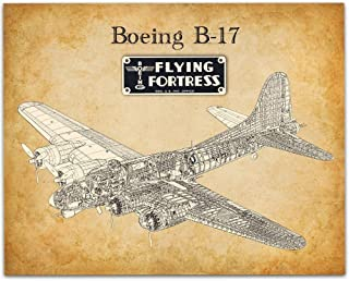 Boeing B-17 Flying Fortress - 11x14 Unframed Patent Print - Great Gift Under $15 for Aviation Geeks