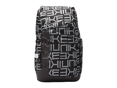 Nike Hoops Elite Pro All Over Print Backpack (Black/Black/White) Backpack Bags