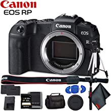 Canon EOS RP Mirrorless Digital Camera (Body Only) - Includes - Extra Battery Pack, Cleaning Kit, Memory Card Kit, Carrying Case and More!