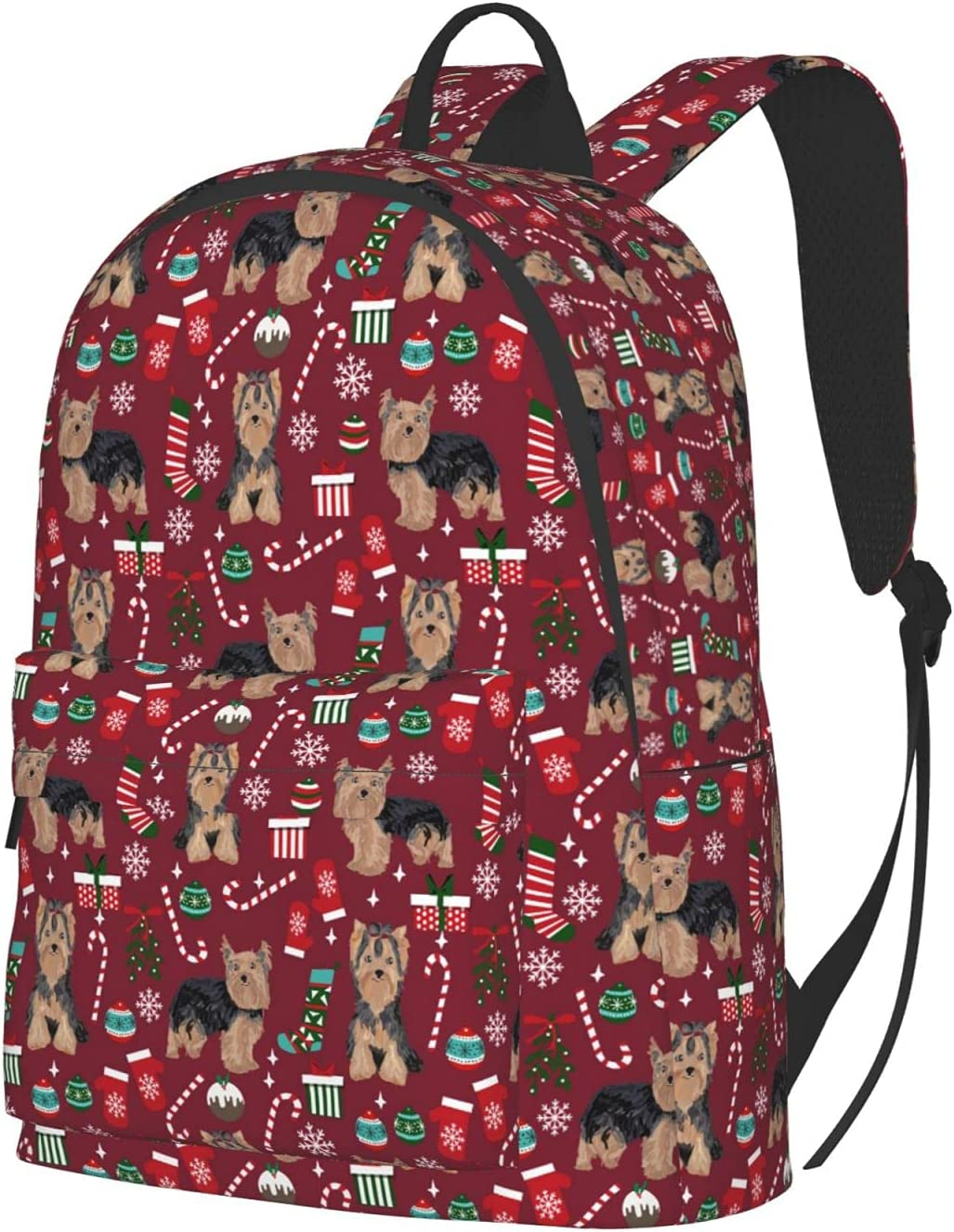 Award Yorkshire Dog Red Xmas Christmas Large Backpack New life Capacity School