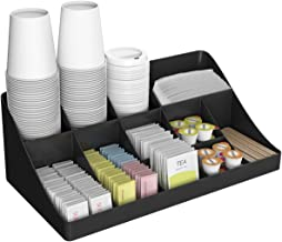 Mind Reader 11 Compartment Breakroom Coffee Condiment Organizer, Black