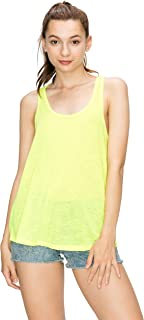 EttelLut Workout Neon Racerback Tank Tops Yoga Sports Activewear Cute Women