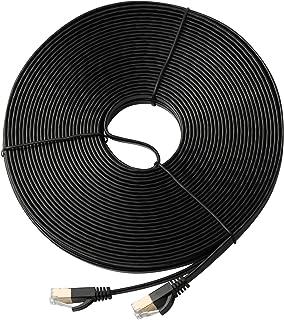 LANケーブル 30M CAT7 フラット カテゴリー7 イーサネットケーブル SSTP/SFTP ギガビット 10Gbps/600MHz ブラック