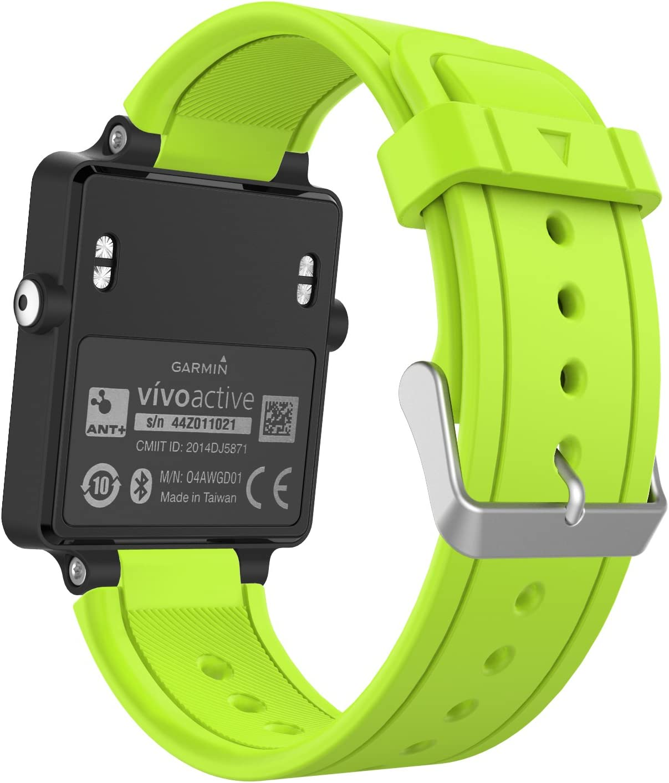 MoKo Garmin Vivoactive Correa de Reloj, Suave Silicona Reemplazo Watch Band para Garmin Vivoactive/Vivoactive Acetate Sports GPS Smartwatch - Verde