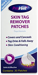 Provent Skin Tag Remover Patches, 30 Count, NEW AND IMPROVED FORMULATION, Homeopathic Medicated Patch, Dries Tags and falls away. Covers and conceals skin tags 100% Natural Ingredients.