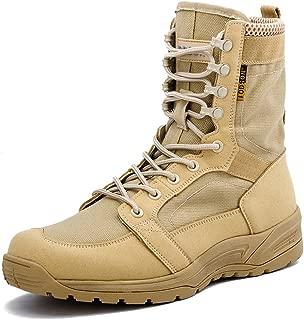 Botas Militares de los Hombres ultraligeros, Botas Tácticas de Combate Transpirables, Zapatos de Tobillo de Seguridad del ejército 852