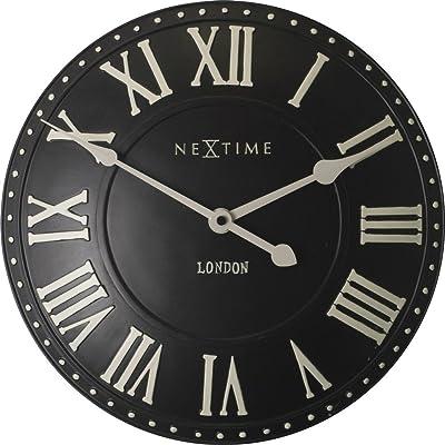 NexTime London Roman Wall Clock, Black, 34 x 5 x 30 cm