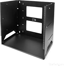 StarTech.com 8U Open Frame Wall Mount Network Rack w/Built in Shelf - 2-Post Adjustable Depth (12