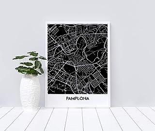 Mapa decorativo de Pamplona