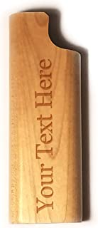 Customized 3D Laser Engraved Personalized - Custom Disposable Lighter Wooden Cover Case