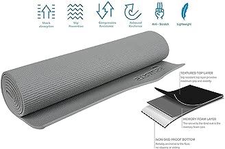 STRAUSS Unisex Adult ST-1003 Yoga Mat - Grey, 6 mm