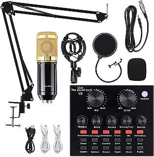 Condenser Microphone Bundle and Adjustable Suspension Scissor Arm Stand with Shock Mount, Pop Filter for Studio Recording ...