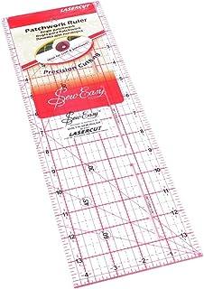 Sew Easy Règle de patchwork et de matelassage Différentes formes et tailles (30,5 x 11,4 cm)
