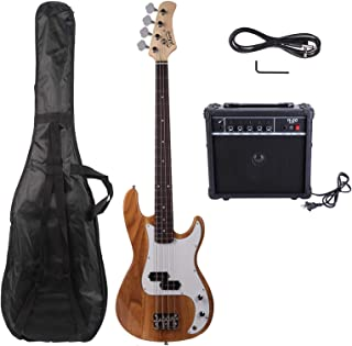 $187 » N&P Glarry GP Electric Bass Guitar Cord Wrench Tool Burlywood, 20W Bass Amp