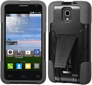 MyBat Asmyna ALCATEL A845L (One Touch Pop Star) Inverse Advanced Armor Stand Protector Cover - Retail Packaging - Black