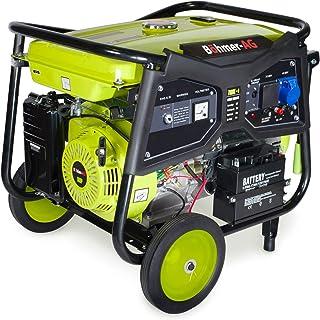 Böhmer-AG WX7000E - Grupo Electrógeno Portátil a Gasolina - Arranque con Llave eléctrica - 9500 W - 11,5 kVA - 16 HP