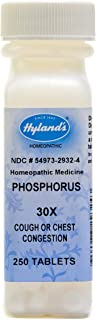 Cough Medicine, Hyland's Phosphorus 30X Tablets, Homeopathic Cough Suppressant Medicine for Adults, 250 Count