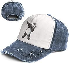 Vintage Dabbing Panda Print Dab Bear Dance Cotton Adjustable Washed Dad Hat Baseball Cap