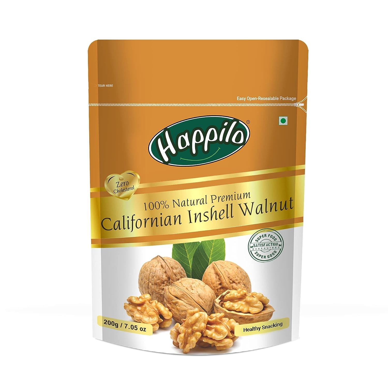 Happilo100% Natural Premium Californian Inshell Walnuts, 200g