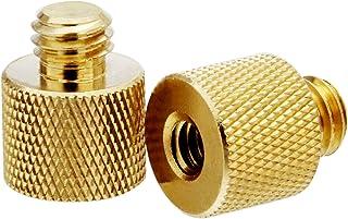 "XINJUE(Brass) 1/4""-20 Internal Thread to 3/8"" -16 External Thread Tripod Screw Adapter, Tripod Accessory Microphone Stand ..."