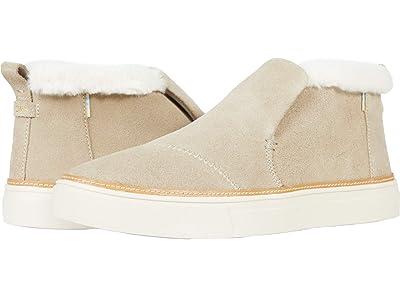 TOMS Paxton Water-Resistant Slip-Ons (Cobblestone Suede/Faux Fur) Women