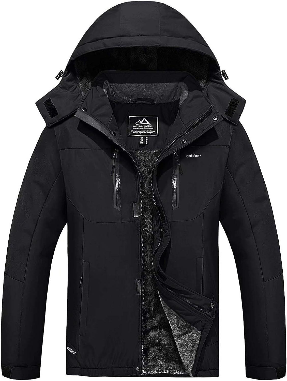 MAGCOMSEN Max 75% OFF Men's Online limited product Winter Coats Water Ski War Snow Resistant Jacket