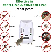 [2019 Upgraded] Tatero 100% Safe Electronic Pest Control Ultrasonic Repellent, Indoor Plug in Ultrasonic Pest Repellent for Mice, Cockroach, Spider, Ant, Mosquito, Bug, Insect