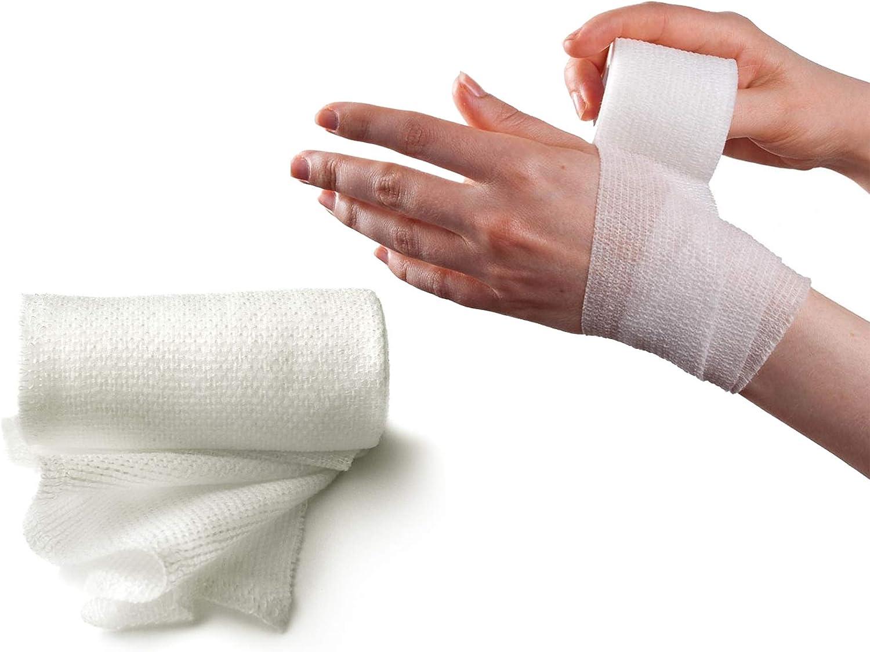 McKesson Pack of 100 Sterile Gauze Bandage Rolls 4.5