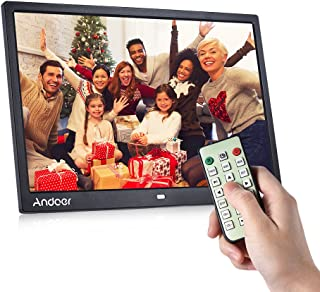 Digital Frames 15 inch, Andoer Digital Picture Frame 1280 x 800 HD Resolution 16:9 Wide Picture Screen with Zoom Rotate Music Video Playback Infrared Remote Control