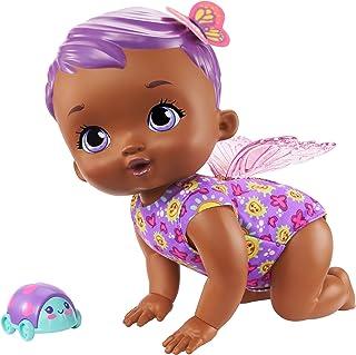 MyGardenBaby poupon bébé papillon Trotteur&Sons 30 cm violet avec 20sons et ailes articulées, poupée pour enfant dès ...