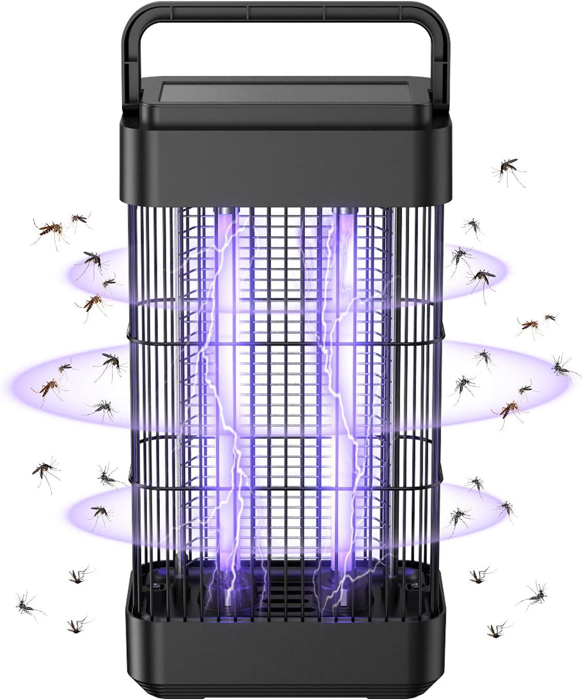 Exatfina Lámpara Anti Mosquitos Electrico,18W Luz Ultravioleta de Mosquitos Interior,2400V Asesino de Mosquitos Electrico Eficaz No tóxicos para HogarJardín Oficina Restaurante