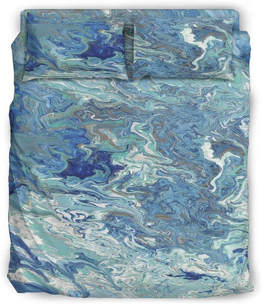 HYLKCNU Colorful half Marble Bedding Set 4 Size Cute Twin Manufacturer direct delivery