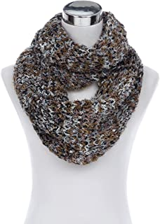 Super Soft Winter Multi Color Knit Infinity Loop Circle Scarf - Diff Colors