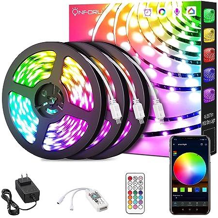 32.8ft RGB Smart WiFi Strips Olafus 1 x 10m Alexa LED Strip Lights with Remote