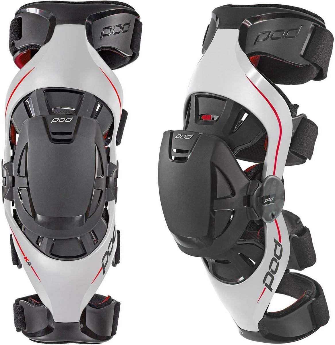 Grey//Red, Medium//Large POD K4014-595-MD//LG Unisex-Adult K4 Knee Brace Left