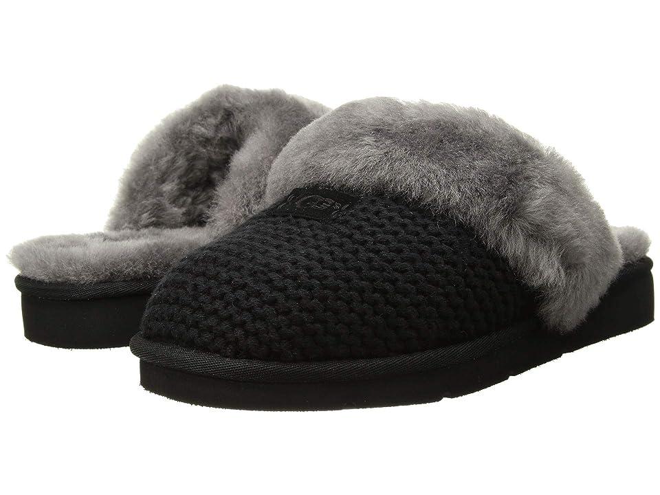 UGG Cozy Knit Slipper (Black) Women