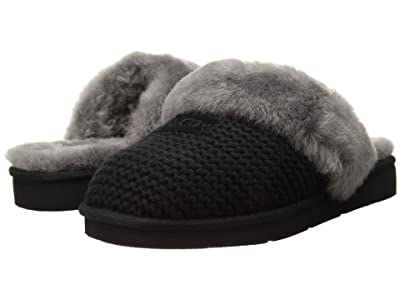 UGG Cozy Knit Slipper (Black) Women