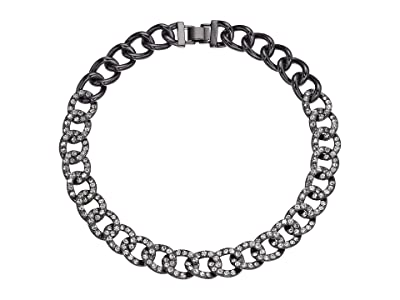 J.Crew Glitz Pave Chain Necklace (Hematite) Necklace