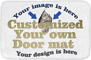 Personalized Customized Your OWN Design Door Mat Entrance Mat 30 x 18 Inch -Kitchen Dining Living Hallway Bathroom Pet Cat Dog Feeding Mat Pad Entry Rugs with Non Slip Backing Washable