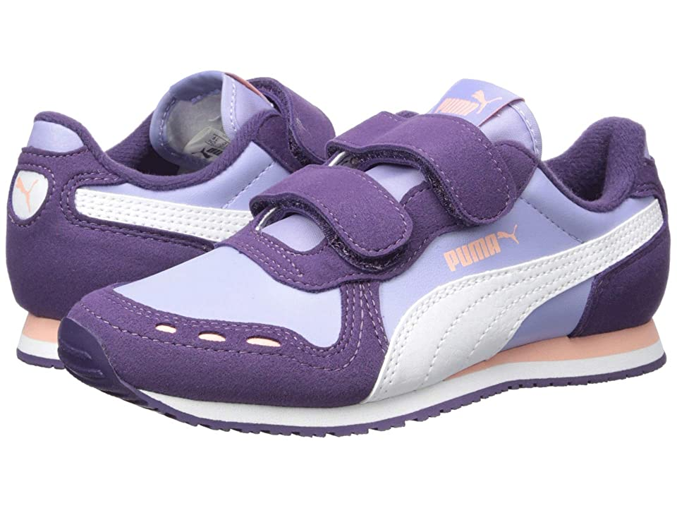 Puma Kids Cabana Racer SL Velcro (Little Kid) (Sweet Lavender/Indigo/Puma White) Girls Shoes