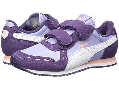 Puma Kids Cabana Racer SL Velcro (Little Kid) (Sweet Lavender/Indigo/Puma White) Girls Shoes