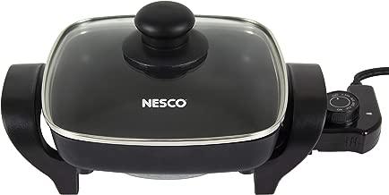 NESCO ES-08, Electric Skillet, Black, 8 inch, 1800 watts (Renewed)