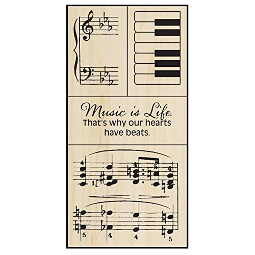 Stampendous Music Wood Stamp Set