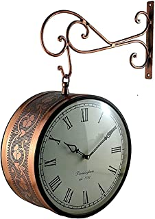 Kamdhenu art and craft Synthetic Wood Copper Wall Clock (12 inch, Copper)
