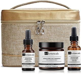 Dr Botanicals Advanced Bag Set Bio Face Moisturiser, Light Facial Serum Essence, Eye Nutrition Serum, 400 Gram