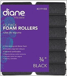 """Diane Foam Rollers, Black, 3/4"""", 12/bag"""